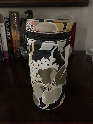 VERA BRADLEY Baby Bottle Wristlet Caddy. Yellow And Black Floral