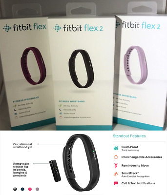 FITBIT Flex2 Waterproof Activity Track Bluetooth Fitness Band workout yoga sleep