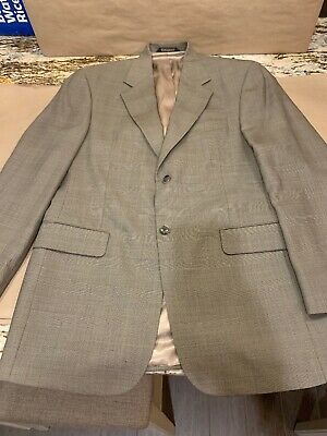 Stafford Mens 38R Wool Suit Coat See Description