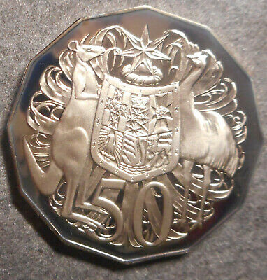 ***2011 50 cent proof coin Coat of Arms Only 23,605 made VERY SCARCE COIN!***