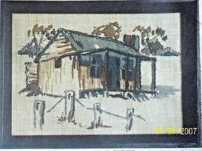 "Vintage SEMCO Miniature Crewel Embroidery KIT"" THE OLD HUT  Kit No 1147"