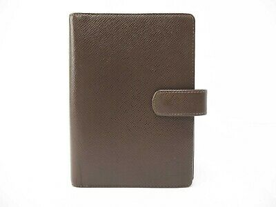 Authentic Louis Vuitton Agenda MM Epi Planner Note Cover Brown R20432