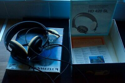 Sennheiser HD 420SL 1980's Stereo Headphones. Boxed in Excellent Condition