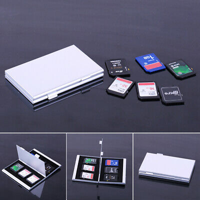 Aluminum Micro /SDHC Memory Card Storage Carry Case Protecter Box
