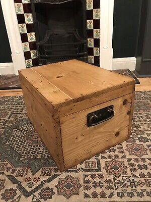 Antique Pine Chest, Trunk, Blanket Box