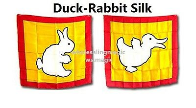 Duck / Rabbit Silk Magic Trick Close Up Street Parlor Stage Kids Paty Show Funny