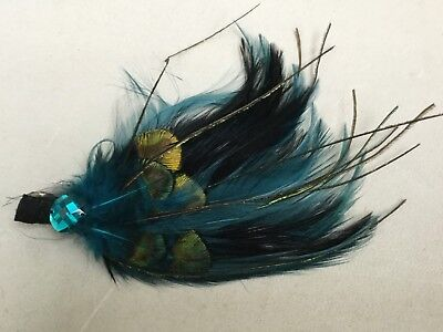 Fascinator By Accessorize - Turquoise Feather And Bead Bn Sh112B