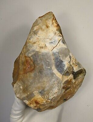 Middle Palaeolithic, Giant Biface-Cleaver on a Levallois Flint Flake c200k yrs