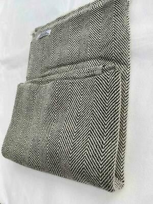 Grey Colour Real Cashmere Scarf |Handmade From Nepal Herringbone Print | Unisex