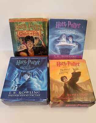 Lot 4 Harry Potter Audio Books UNABRIDGED on Compact Disc JK Rowling Retail $300