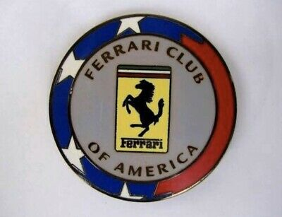Ferrari Club Of America Badge De Calandre Émaillé Emblem Insigne Plaque Enameled