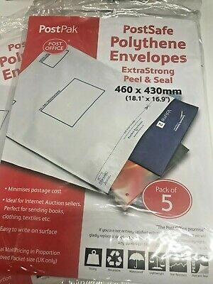 PostSafe PB11122 165 x 230 mm Light Weight Polythene Peel and Seal Envelope Opaque Pack of 100