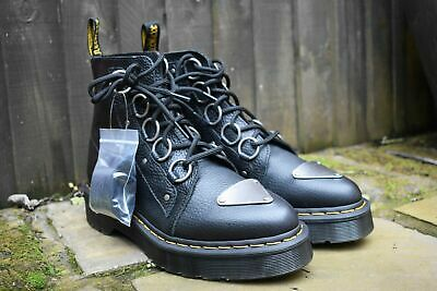 DR MARTENS FARYLLE Boots Black Aunt Sally Real leather UK 8 EU 42 US10 Very Rare