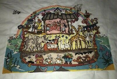 Handmade Finished Completed Cross Stitch Bothy Threads Cut Thru Noah's Ark