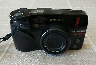 Ultra Compact Olympus Superzoom 3000 35mm 38-110mm Zoom Film Camera in Box