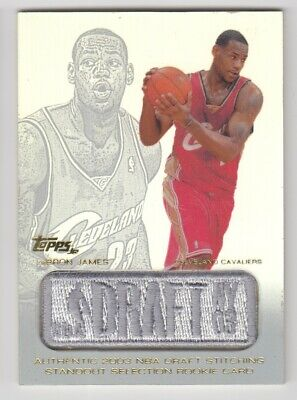 "2003/04 Topps Draft Patch Jersey Edition Lebron James Rc Rookie Card #Lj ""As Is"""