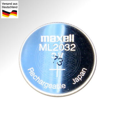 socket pour pile Pile bouton ML2032 rechargeable Maxell 3V battery Accus 40mAh
