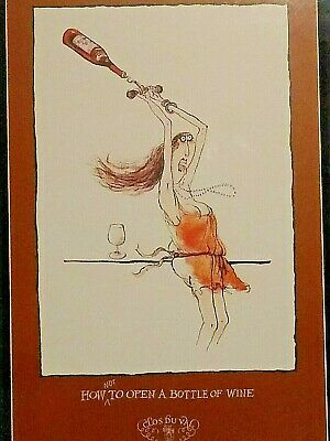 Vintage Los Buval Napa Valley Framed Print How Not To Open A Bottle of Wine