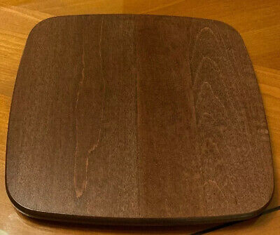 Longaberger Small Waste Woodcrafts Lid in Deep Brown #5031132 NEW