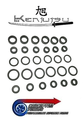 Injector Seals O-rings set Side Feed Fuel Rail - For Toyota Supra JZA80 2JZ-GTE