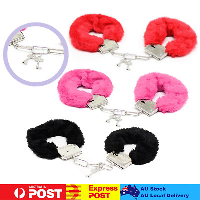 Police Handcuffs Hens Cuffs Fluffy Hand Party Costumes