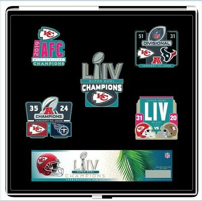 Super Bowl 54 Kansas City Chiefs 5 Pc Nfl Championship Pin Set Superbowl Liv