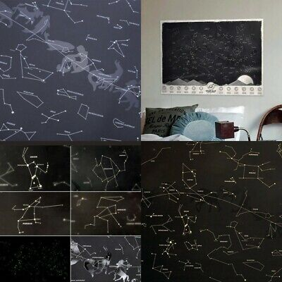 Glow in the Darkness Star Map Of Sky Detailed Star Map