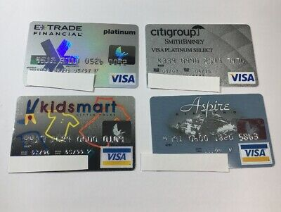 4 Expired Credit Cards For Collectors - Visa Random Collection Pulls Lot (7046)