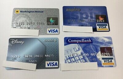 4 Expired Credit Cards For Collectors - Visa Random Collection Pulls Lot (7048)