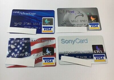 4 Expired Credit Cards For Collectors - Visa Random Collection Pulls Lot (7049)