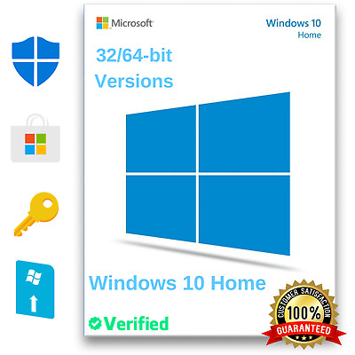 Windows 10 Home 32 & 64-bit Genuine Activation License Key Multi-Language 2020