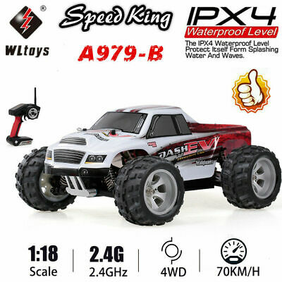 WLtoys A959-B 2.4G 1//18 4WD 70KM//H Electric Off Road RC Truck RTR RC Car P4I6