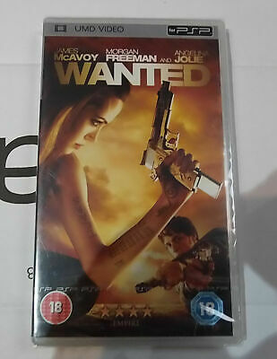 Wanted NEW Sony PSP UMD Video Movie