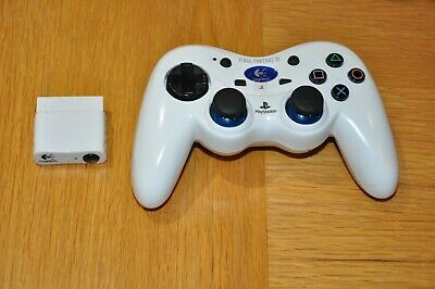 SONY PLAYSTATION 2 PS2 WIRELESS CONTROLLER in White, Logitech Cordless Action