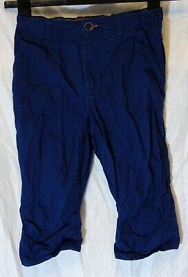 Boys H&M Dark Navy Blue Cropped Trousers Cotton Long Board Shorts Age 8-9 Years
