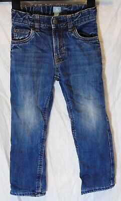 Boys Gap Blue Whiskered Denim Fleece Lined Warm Winter Jeans Age 4 Years