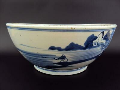 Beautiful  Large Chinese Oriental Antiques Porcelain Blue and White Bowl