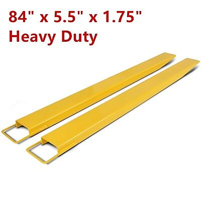 96/'/'x5.8/'/' Forklift Pallet Fork Extensions Pair Retaining Lift Truck 2 Thickness