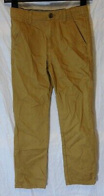 Boys M&S Tan Brown Chino Denim Adjustable Waist Classic Fit Jeans Age 8-9 Years