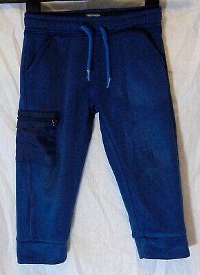 Boys Gap Blue Elasticated Waist Casual Cuffed Joggers Cargo Trousers Age 3 Years