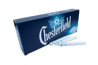 CHESTERFIELD CAPS BLUE Click 500 King Size Cigarette Filter Tubes 5 Boxes of 100