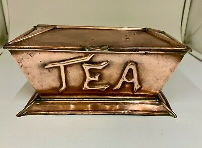 Antique Arts & Crafts Copper Tea Caddy circa 1899