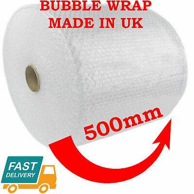 BUBBLE WRAP 500MM x 100M CUSHIONING QUALITY SMALL BUBBLE 100 METERS LONG ROLL
