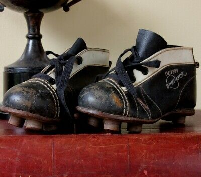 Olivers Spot-Kick Football Boots. Old Vintage Small Children's Kids Soccer Shoes