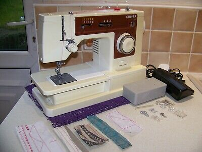 Singer 6104 F/Arm Stretch Stitch Heavy Duty Sewing Machine,Case,Accessories