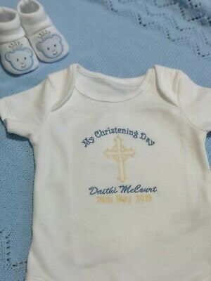 My Christening Day Embroidered Baby Vest Gift Personalised