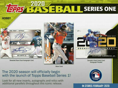 2020 Topps Series 1 Baseball Factory Sealed HTA Jumbo Box