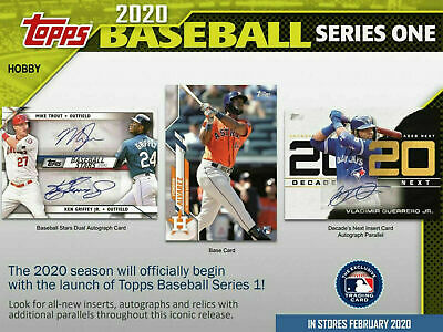 2020 Topps Series 1 Baseball Factory Sealed Hobby Box