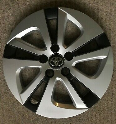 """1 NEW 15"""" Silver Black Hubcap Wheelcover Fits 2016-2018 TOYOTA PRIUS 61180"""