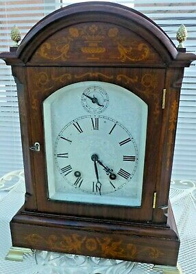 Lenzkirch 8 day Ting Tang Bracket Clock in Rosewood. Exquisite marquetry